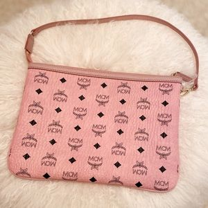 Authentic MCM monogram small shoulder bag